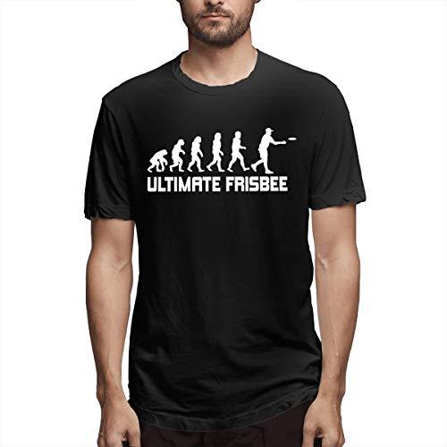 Barbara J Griffin Ultimate Frisbee-Evolution Mens Short Sleeve T-Shirt Crew Neck (4XL,Black)