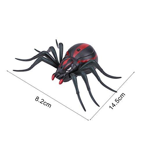 Dilwe RC Insektenspielzeug mit Fernbedienung, schnelle Bewegung Trick Spielzeug Infrarot Ameisen / Kakerlaken / Spinnen Fernbedienung Mock Gefälschte Tier Trick RC Geschenk(Spinnen)