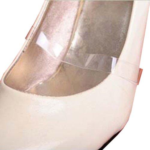 Haltebänder für Damenschuhe, geeignet für High Heels, Pantoletten, Slipper etc., Transparent, 4 Stück (2 Paar)