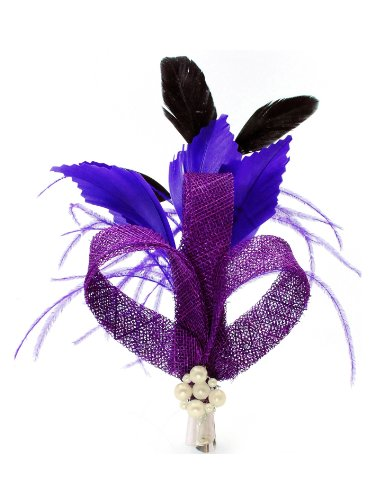 Ruban Clip Violet Perle