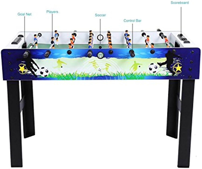 Beautytalk Tischfuball 48inch Kickertisch Foosball Tisch für Party und Spielzimmer Fuball Sport 61,3 x 79 x 121,3 cm(DE Lager)