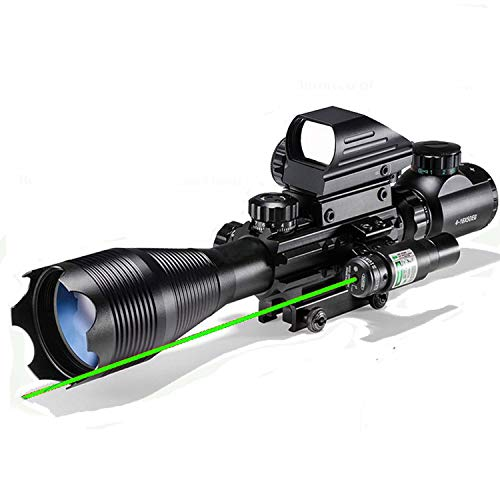 Rifle Scope Combo 4-16x50EG Dual Illuminated with Green Laser Sight 4...