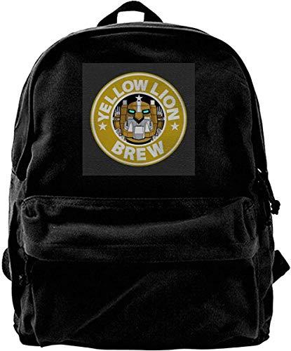 Homebe Mochila antirrobo Impermeable,Canvas Backpack Voltron Yellow Lion Brew Coffee Rucksack Gym Hiking Laptop Shoulder Bag Daypack for Men Women