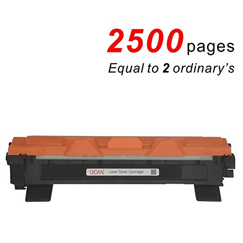 2500 pagina's UCAN TN1050 TN1030 TN1090 Toner Cartridges Compatibel met Brother Brother HL- 1110 1112 1210W 1212W,DCP- 1510 1512 1610W 1612W,MFC-1810 1910W (High Yield, Auto Reset, Refillable)