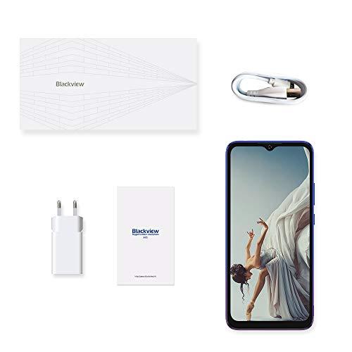 Blackview A70 (E) Smartphone ohne Vertrag Android 11, 6.517 Zoll HD mit 5.380mAh Batterie, 3GB RAM+32GB Speicher Octa-core, 13MP+5MP Kamera, Fingerabdruck Sensor, 4G Handy Dual SIM Mist Blau - 7
