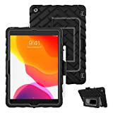 Gumdrop Hideaway Case Designed for The Apple iPad 10.2 7th and 8th Gen (2020) Tablet Commercial, Business and Office Essentials - Rugged, Shock Absorbing, Extreme Drop Protection (Black)