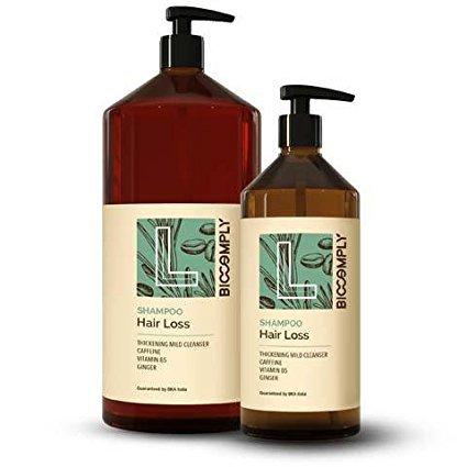 Biocomply - Champú Hair Loss ecológico, acción intensificadora obtenida con cafeína, jengibre y vitamina B5, 1000 ml