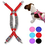 FunnyDogClothes Dog Suspenders for Pet Clothes Apparel Diapers Pants Skirt Belly Bands Small Medium and Large Dogs (XS/M: 9lb - 25lb, Red)