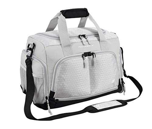 Ultimate Gym Bag 2.0: The Durable Crowdsource Designed Duffel Bag with 10 Optimal Compartments Including Water Resistant Pouch (Silver, Small (15