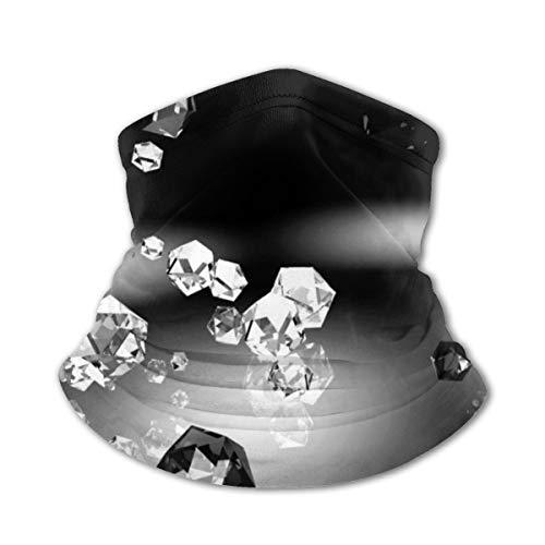 Akhy Multifunctional Headwear Boys Girl Face Mask Headband Neck Gaiter Black Diamond Balaclava for Teens
