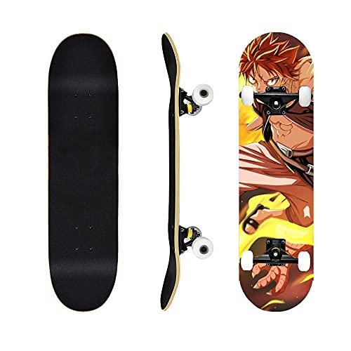 Fairy TailSkateboard Naz Grey Elisa , Cruiser Tablero Completo Siete Capas de Arce, cojinetes ABEC-7, Adecuado para Adolescentes, Adultos, Trucos para Principiantes monopatín-Fairy Tail6