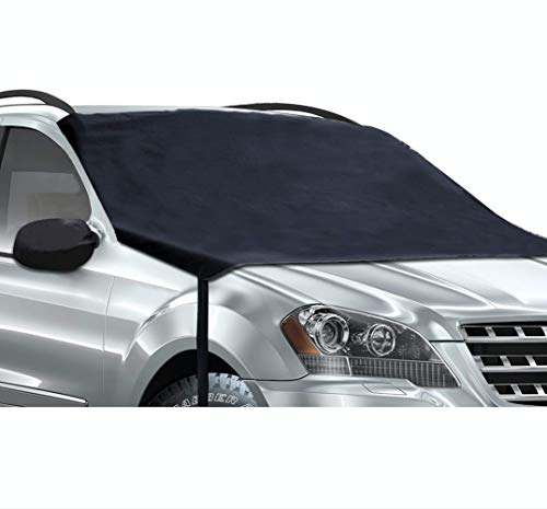 Evautolution Premium Windshield Snow Cover - Car Windshield Snow Cover Guards Your Windshield, Wipers & Side Mirrors from Frost, Ice and Snow