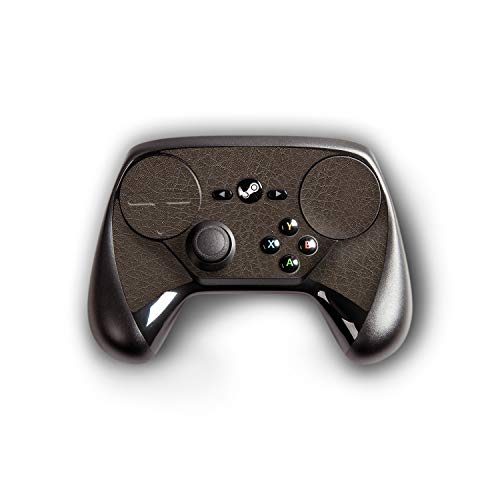atFoliX Skin kompatibel mit Steam Controller, Designfolie Sticker (FX-Leather-Brown), Feine Leder-Struktur