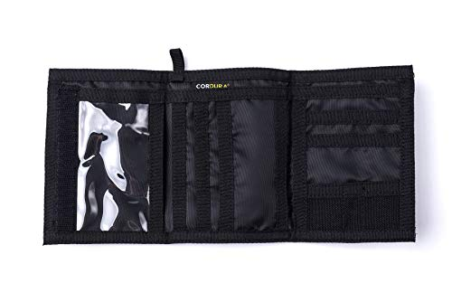 CHAMELEON  Velcro  Trifold Mens Wallet - Military and Tactical Men Wallet - Extra Capacity Card Holder Wallet - Thin Front Pocket Travel Wallet -  Best Nylon Travel Pouch and Card Wallet