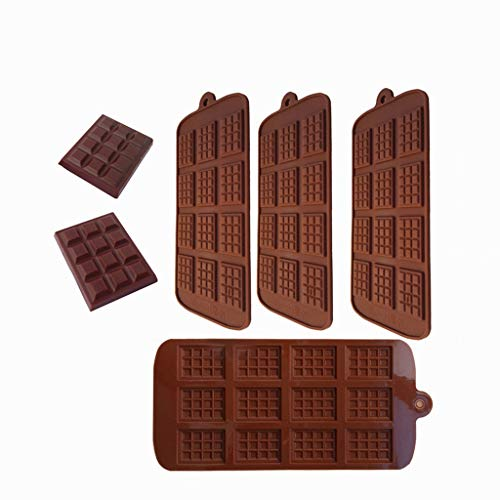Silicone Chocolate Mold Baking Cake Jelly Candy Tool Cake Mold Kitchen Gadgets Ice Tray Home Baking Cooking Tool Baking Tools Accessories(4 Pack)