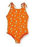Tommy Hilfiger One-Piece Bikini-Set, Blu (Danger Orange 108-680), 12-13 Anni (Taglia Unica:) Bambina