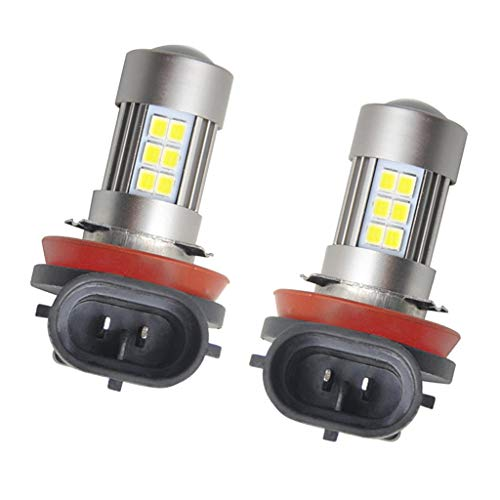 Shiwaki H11 H8 27SMD Kit de Bombillas LED para Faros Delanteros, Haz Alto Y Bajo, 21 W, Superbrillante, 6500 K