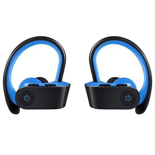 Flamedre Bluetooth koptelefoon Over het oor draadloze sport headset metaal goede geluidskwaliteit voor iPhone Huawei Samsung blauw