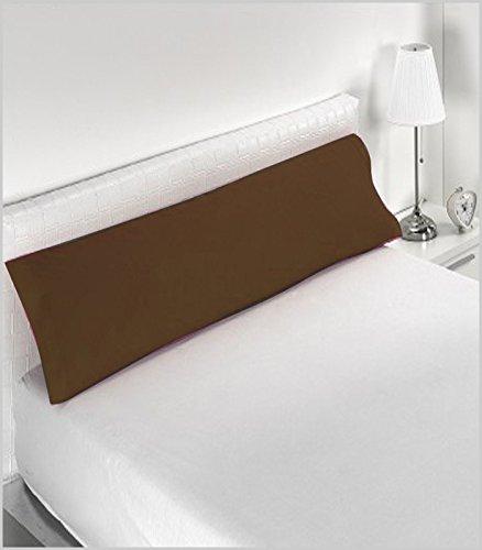 Miracle Home Housse de Coussin Douce et Confortable 105 cm Chocolat