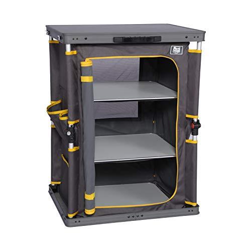 Timber Ridge Cocina de Camping Armario Camping Plegable Compartimentos 60x50x80cm Gris