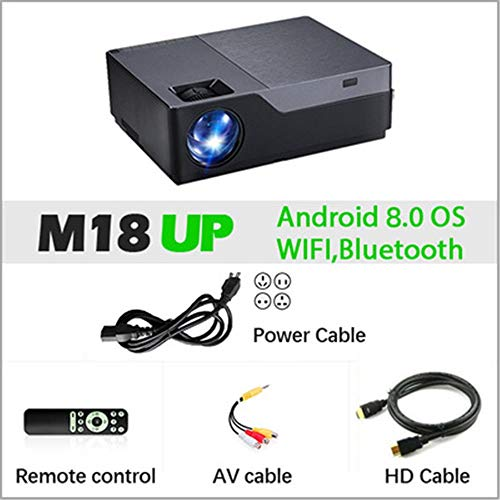 ZoSiP Video Projektoren Tragbarer Mini Beamer 1920 * 1080P Auflösung Projektor Hauptprojektor 1G RAM / 8G ROM 4-Cores ARM 64 (Color : Android Version, Size : 308 * 230 * 108mm)