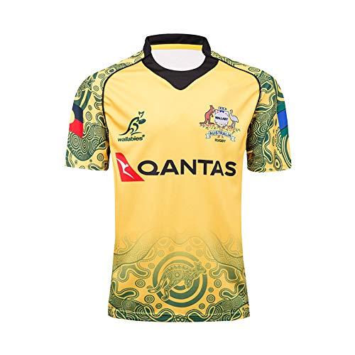 Rugby Jersey, 2017 Australian Commemorative Edition Summer Sports Jersey atmungsaktiv Lässiges T-Shirt Fußball-Hemd-Polo-Hemd,XL