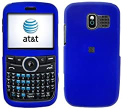 Blue Rubberized Hard Phone Cover for Pantech Link P7040 AT&T Protector Case