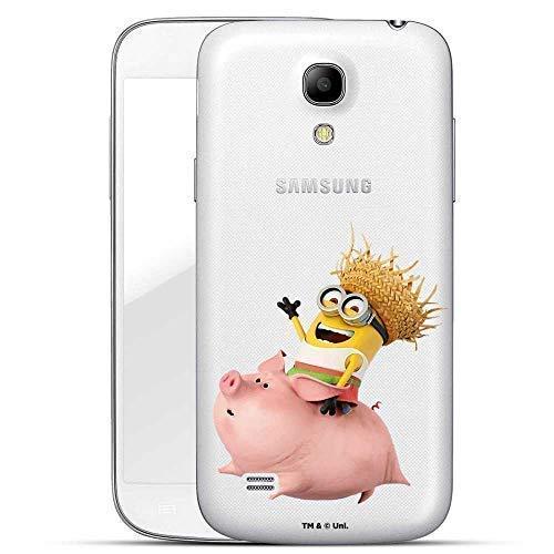 Hülle für Samsung Galaxy S4 - Minions Handyhülle mit Motiv und Optimalen Schutz Tasche Case Hardcase Cover Schutzhülle - Schweinchen Reiten