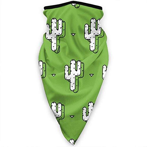 NA Balaclava gezichtsmasker, multifunctionele hoofddekselhals voor mannen, 3D-stofmasker zon UV-stof winddicht Cactus schilderij groen patroon