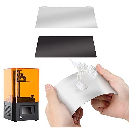 Placa de construcción de resina 3D para impresora 3D flexible, placa de acero flexible y base magnética con adhesivo compatible con...