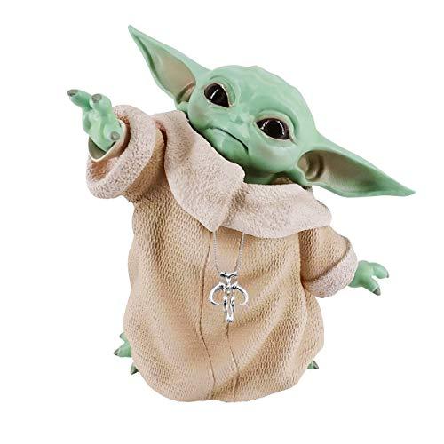 Colección de juguetes de bebé Yoda figura de muñeca de bebé Yoda réplica decoraciones con collar de Yoda