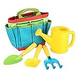Robasiom Gartenwerkzeug-Set für Kinder, mit Tasche, Schaufel, Gartenwerkzeug.