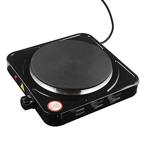 Peahog Placa caliente de 1500 W, color negro, multifuncional, eléctrica, no deja pasar la luz, segura y portátil, multiusos, cocina y calefacción.