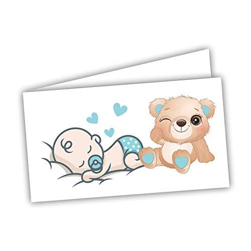 Bigliettini Bomboniera Sacchetti Confetti - Battesimo Nascita Compleanno 60 pezzi pretagliati - stampa l'interno con foglio di prova per non sbagliare