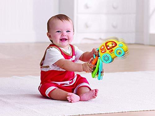 VTech-80-150622 Sonajero electrónico para el bebé, Llavero rueditas. (3480-150622)