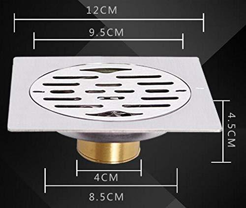HTBYTXZ Keukenmachine van roestvrij staal, afvoer voor douche, rond, vierkant, gepolijst, geborsteld
