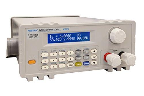 PeakTech 2275 – Programmierbare DC-Elektronische Last 150W mit genauem LCD-Display, USB-to-COM Adapter, Dynamische Lastprüfung, Konstantmodus, Gleichspannungen bis zu 360V, Entladeprüfer für Batterien