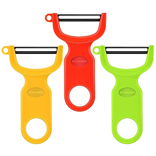 Original Vegetable Peeler Carbon Steel Blade 3-Pack Red/Green/Yellow