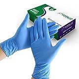 VENSALUD - Guantes de NITRILO Desechables - Sin Polvo - Cajas de 100 Guantes - Color: Azul (M)