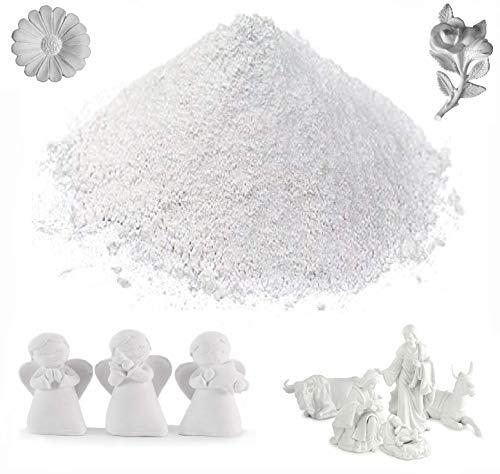 KIRALOVE Gesso ceramico Ultra Resistente atossico - Tipo 4 - colabile extraduro - dentistico - Super Resistenza e precisione - 1kg