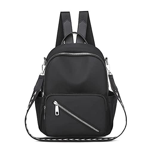 MIMITU Mochila para mujer 2021 Mochila de viaje para mujer de moda Mochila universitaria Bolsos de hombro individuales de color sólido, negro, como se muestra