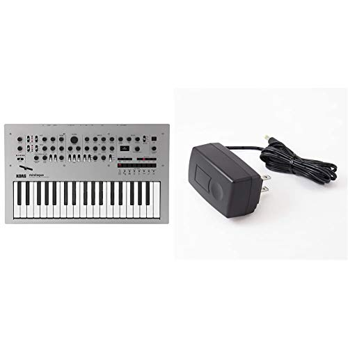 KORG KA350 4 Voice Polyphonic Analog Synthesizer Minilogue Mini Rogue 37 Keys 16 Step Sequencer with Oscilloscope Adapter & AC Adapter