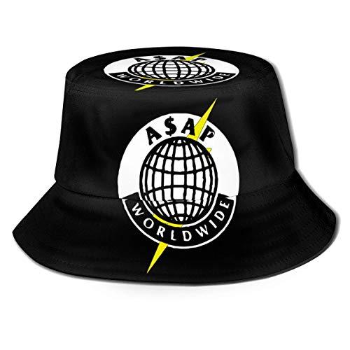 A=Sap Rocky=Worldwide Unisex Bucket Hat Vintage Fisherman Hüte Reversible Packable Cap Schwarz
