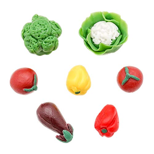 Odoria 1/12 Miniatur Lebensmittel 7 Stück Gemüse Puppenhaus Küche Zubehör
