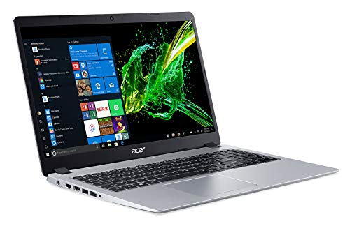 Acer Aspire 5 Slim Laptop, 15.6 inches Full HD IPS Display, AMD Ryzen 3 3200U, Vega 3 Graphics, 4GB DDR4, 128GB SSD, Backlit Keyboard, Windows 10 in S Mode, A515-43-R19L,Silver