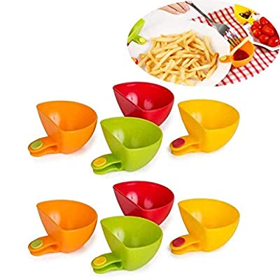 QIANSKY 8PCs Dip Clip Bowl Plate Holder, Plate ...