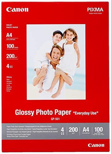 Canon GP-501 Photo Paper 200 g/m100 A4 21 x 29,7 cm (A4) Carta fotografica, 100 Pezzi