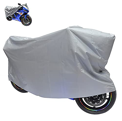 Yajun Cubierta de Lluvia para Motocicleta Anti-Sol al Aire Libre para Bicicleta Protector de Scooter PVEA Plateado a Prueba de Polvo Revestimiento Fino de una Sola Funda,S-210x120CM