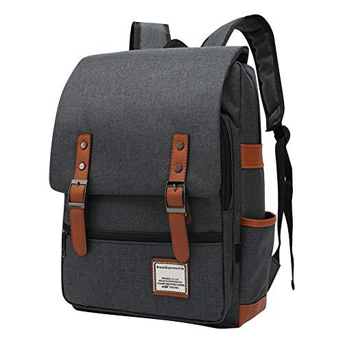 Daytwork Laptop Mochila para Mujeres Hombres - Casual Mochila Sólido Color Lienzo Negocios Viajes Escuela Bolsa Se Adapta 14/16 Pulgada Cuaderno