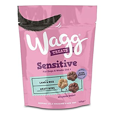 Wagg Sensitive Treats with Lamb and Rice 125gm, Deal of 4